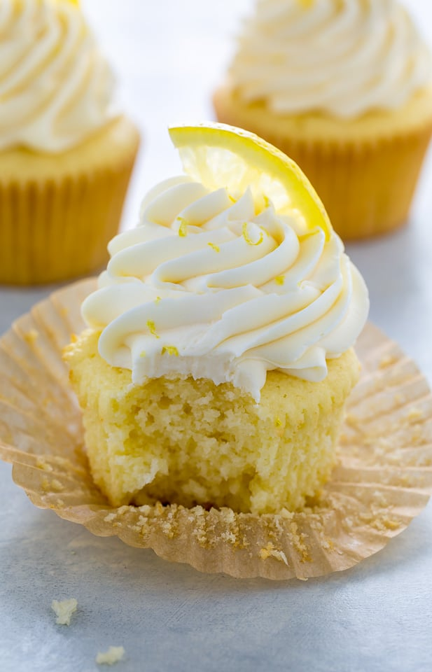 One-Bowl Lemon Ricotta Cupcakes!