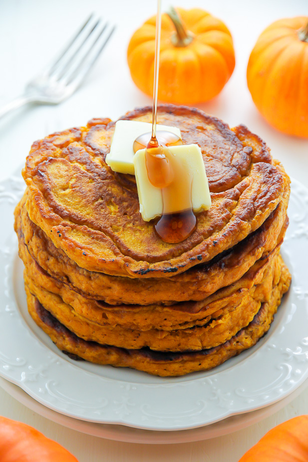 Fluffy Pumpkin Pancakes Baker By Nature