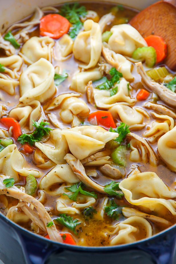 Italian chicken tortellini soup baker by nature nothing screams cozy like a giant bowl of italian chicken tortellini soup simple and comforting forumfinder Image collections
