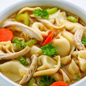 Italian Chicken Tortellini Soup