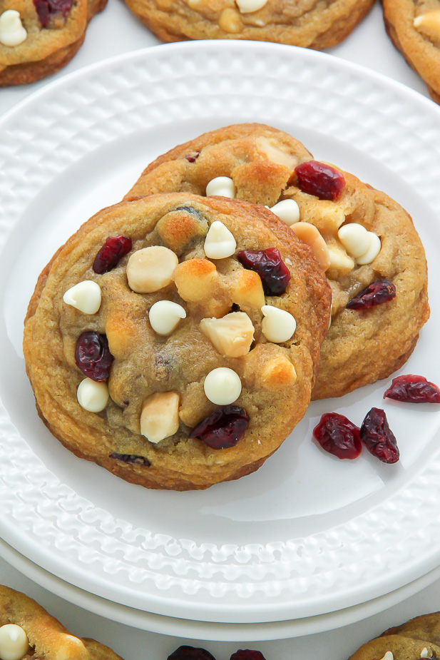 Cranberry White Chocolate Macadamia Nut Cookies - Baker by ...