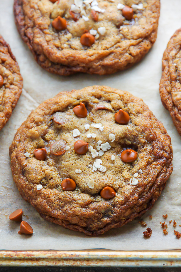 Brown Butter Cinnamon Chip Oatmeal Cookies