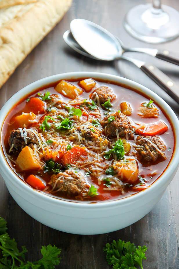 This Italian Meatball Soup is perfect for nights you want hearty ...