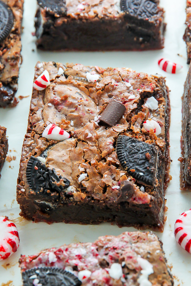 Supremely rich and decadent Oreo Brownies taste just like a peppermint mocha latte. Amazing to the max!
