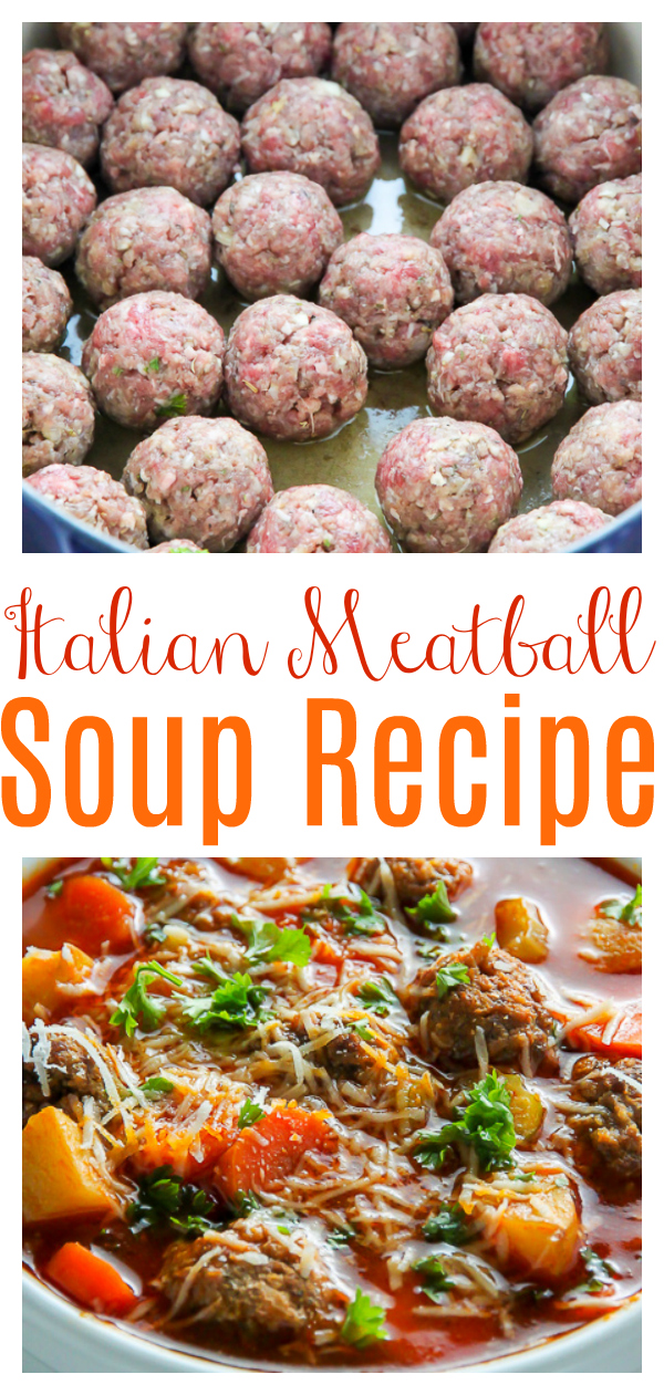 This Italian Meatball Soup is perfect for nights you want hearty comfort food fast! Loaded with tender beef meatballs, potatoes, and plenty of veggies, this flavorful soup is always a crowd-pleaser. An easy and affordable dinner option sure to please the whole family!