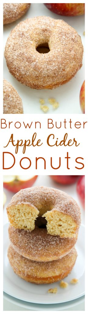 Brown Butter Apple Cider Donuts - baked, not fried, these richly spiced donuts are even better than the ones from the bakery!