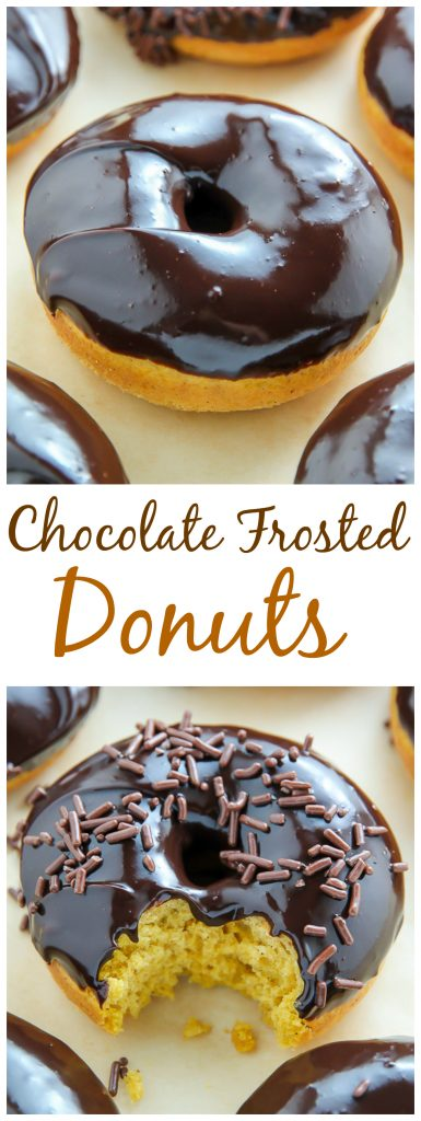 Easy 20-Minute Baked Chocolate Covered Donuts! YES.
