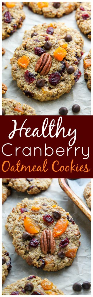 A healthy cranberry oatmeal cookie that actually tastes like a REAL cookie! Get ready to fall in love.