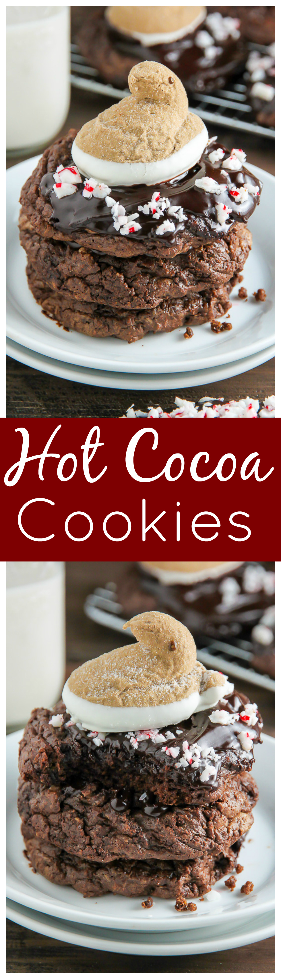 Peeps Peppermint Hot Chocolate Cookies - Baker by Nature