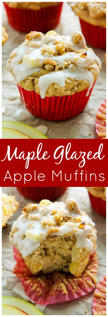 Simple and supremely moist apple muffins topped with melt-in-your-mouth buttery crumbs.