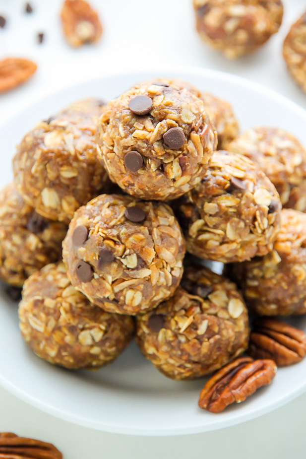 Healthy and wholesome Pecan Pie Energy Bites are sweet, chewy, and made with real ingredients you can feel good about.