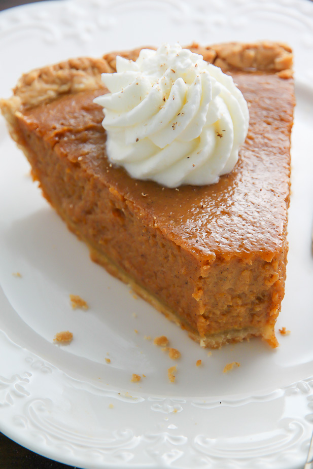Chai Spice Pumpkin Pie - Baker by Nature