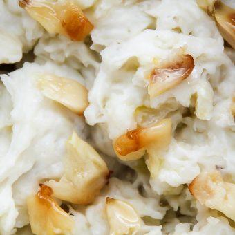 Roasted Garlic and Caramelized Onion Mashed Potatoes