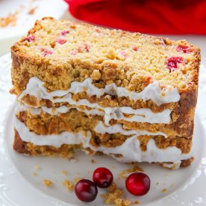 Cranberry Crumb Cake is moist, buttery, and so good with a cup of coffee!