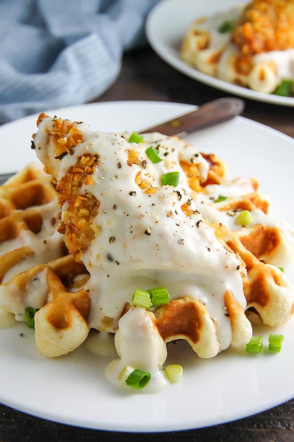 Chicken and Buttermilk Waffles
