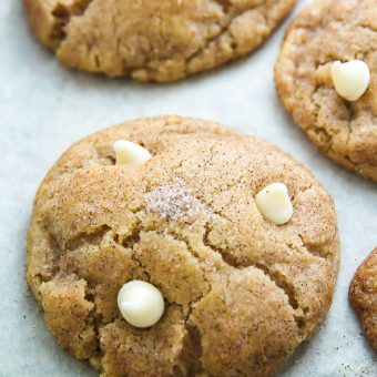 White Chocolate Chip Snickerdoodles