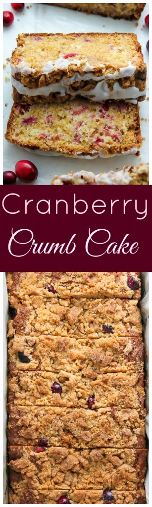 Cranberry Crumb Cake - moist cranberry cake with so many buttery crumbs!