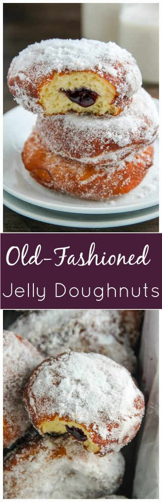 Sweet and simple Old-Fashioned Jelly Doughnuts. Totally worth every-single-bite.