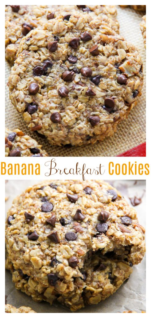 Banana Bread Breakfast Cookies are so easy and delicious!
