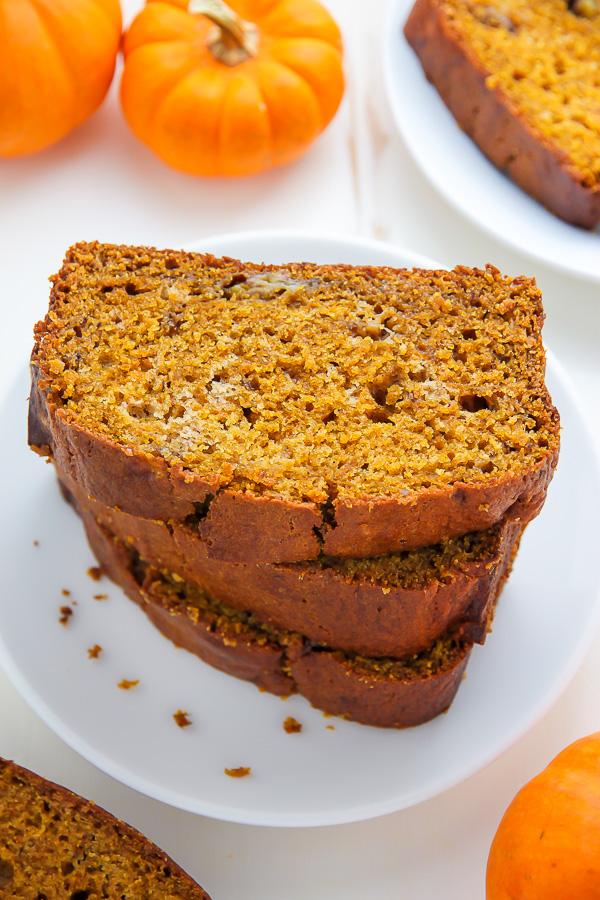 Brown butter and pumpkin make this banana bread irresistible!