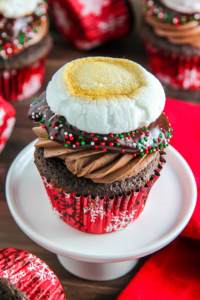 Like a cup of hot cocoa in cupcake form! ← Even more amazing than it sounds!