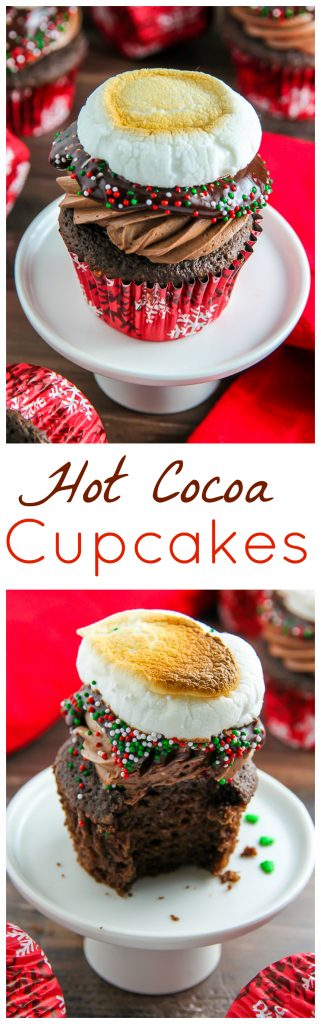 Like a cup of hot cocoa in cupcake form! Even more amazing than it sounds!