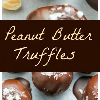 Salted Chocolate Peanut Butter Truffles