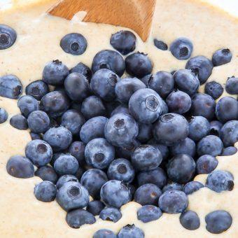 Whole Wheat Greek Yogurt Blueberry Pancakes