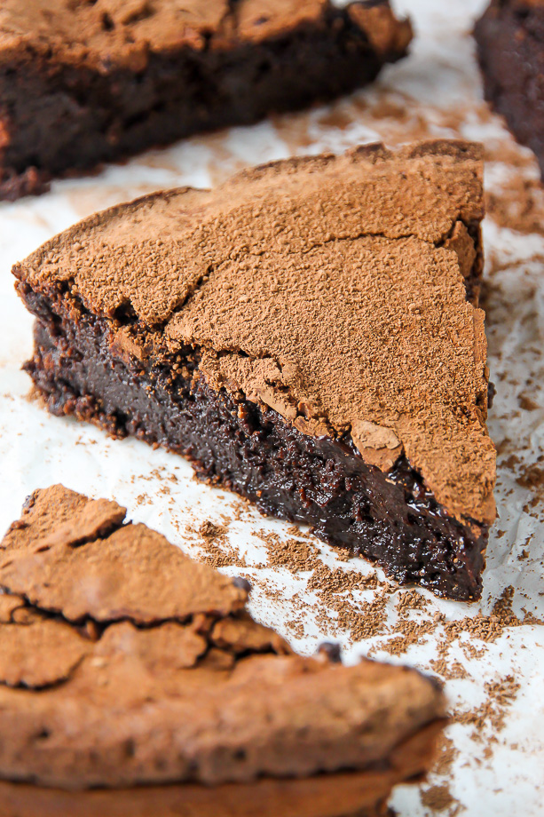 Flourless Chocolate Fudge Cake Baker by Nature
