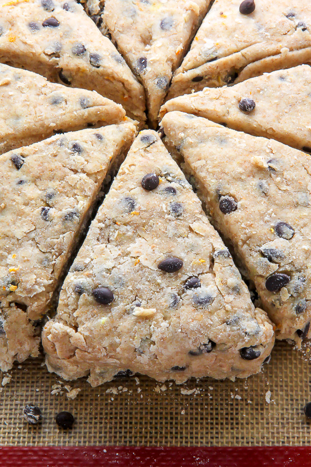 Don't let the whole wheat fool you - these chocolate chip scones are supremely moist, flavorful, and crunchy in all the right places.