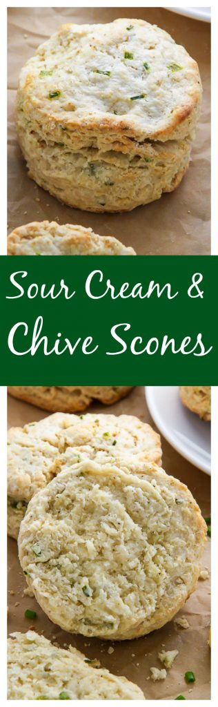 Sour Cream and Chive Scones - Baker by Nature