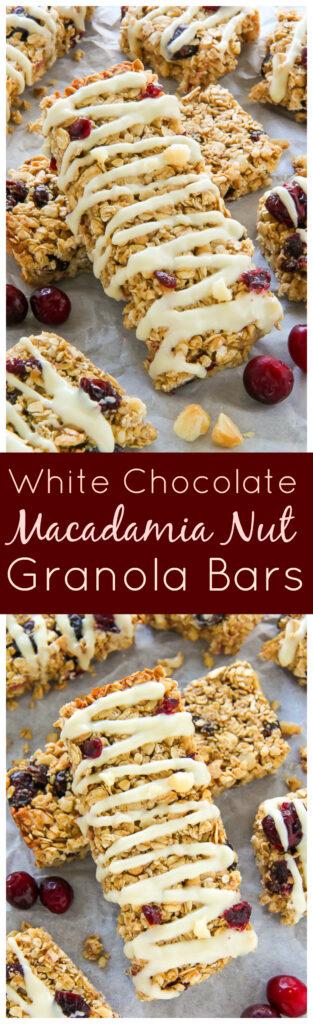 White Chocolate Cranberry Macadamia Nut Granola Bars ...