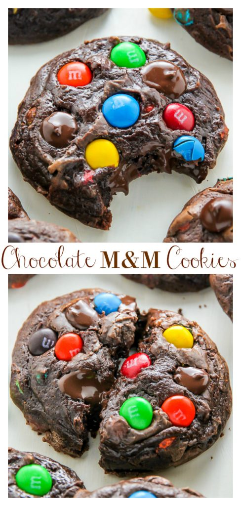 These Soft Batch Chocolate M&M Cookies are super fudgy and so decadent! Loaded with M&M candies, these chocolate cookies are kid friendly, but also loved by adults.