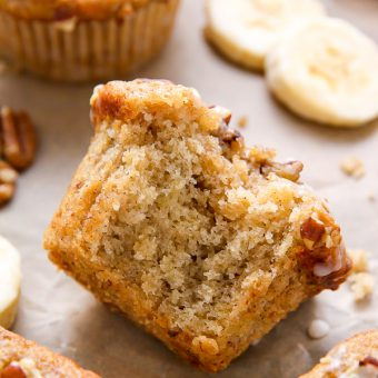 Maple Pecan Banana Muffins (Vegan)