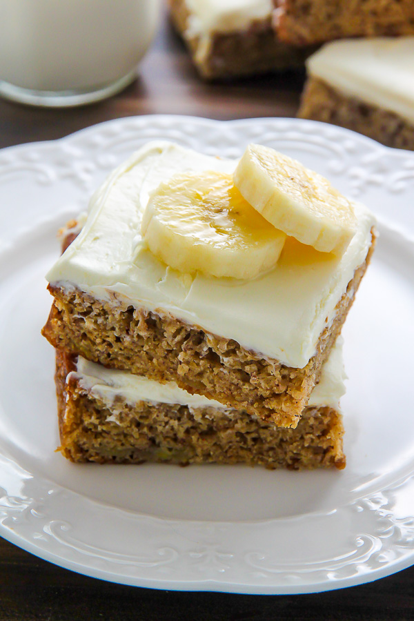 Old Fashioned Banana Bars With Cream Cheese Frosting