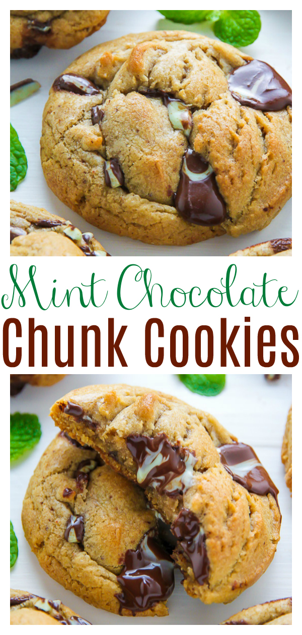 If you adore the perky combination of mint and chocolate, these thick and chewy mint chocolate chunk cookies are for you! The cookies are thick, chewy, and gooey! Peppermint extract and Andes Mints add tons of mint chocolate flavor!
