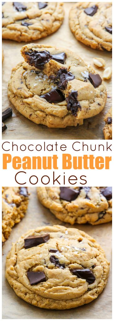 thick soft batch peanut butter cookies loaded with chocolate chunks ...