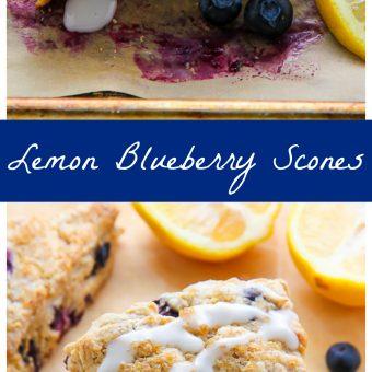 Greek Yogurt Lemon Blueberry Scones