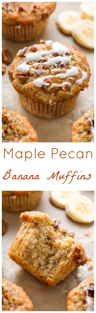 There's nothing like biting into a fresh-baked maple pecan banana muffin! Easy, simple, homemade goodness in less than 30 minutes.