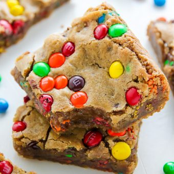 Chewy Brown Butter M&M Blondies