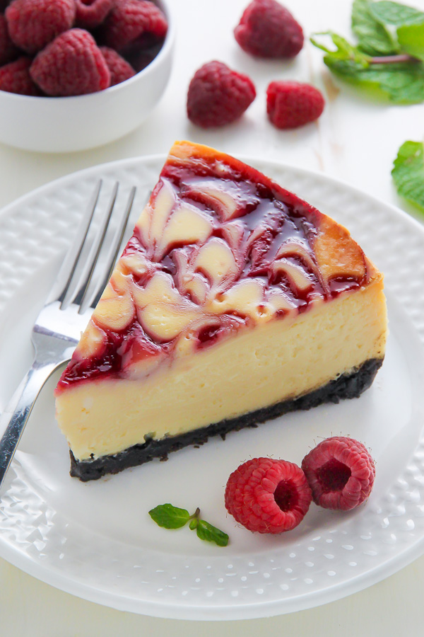 ... with you my favorite flavor: White Chocolate Raspberry Cheesecake