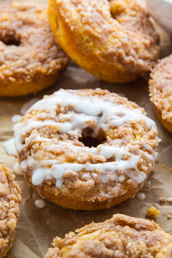 Coffee Cake Donuts With Vanilla Glaze Baker By Nature