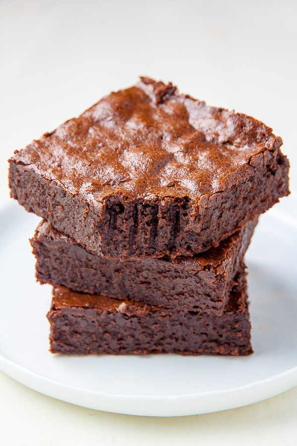 Healthier Flourless Fudge Brownies Baker By Nature
