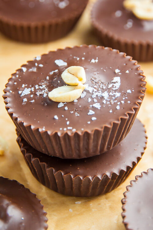 Homemade Peanut Butter Cups made with just 5 HEALTHY ingredients! This recipe is foolproof.