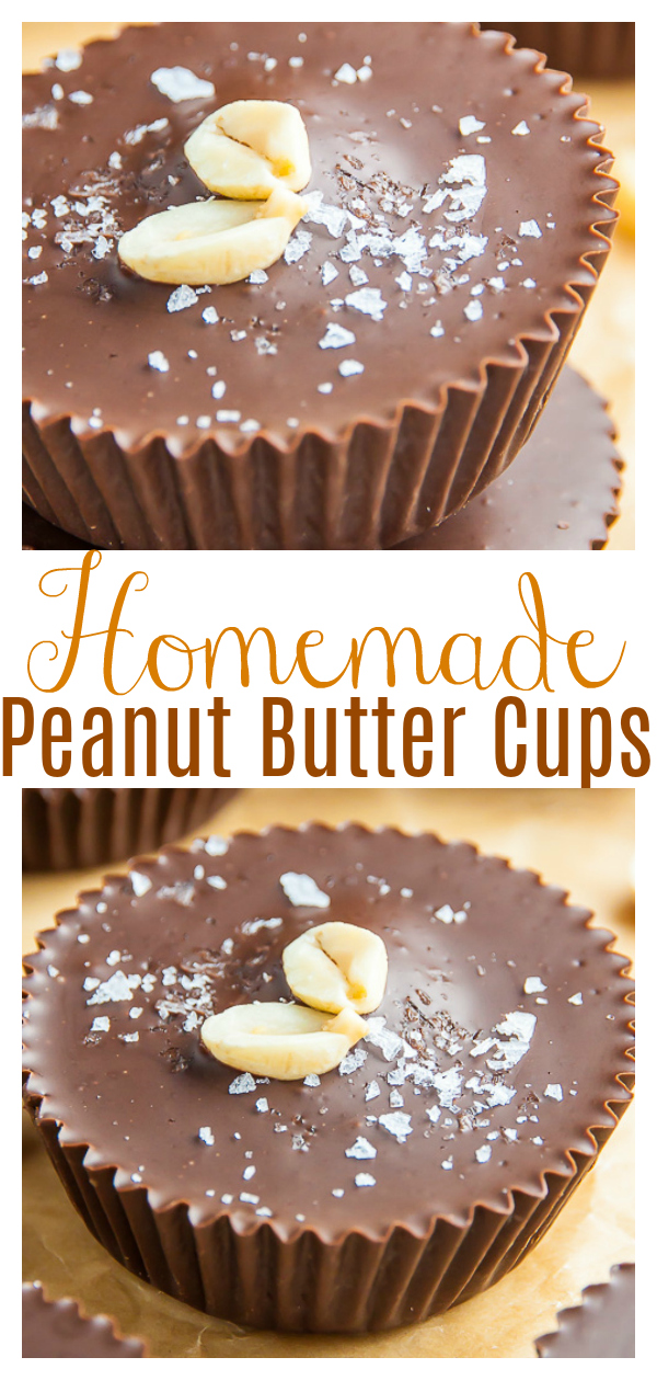 Homemade Peanut Butter Cups made with just 5 ingredients! This recipe is foolproof and so easy! If you love Reese's peanut butter cups, try this homemade version today!