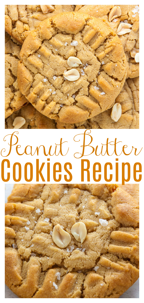 My Perfect Peanut Butter Cookies are soft, chewy, and a little crispy! Packed with real peanut butter flavor, these cookies are a classic you'll make again and again!