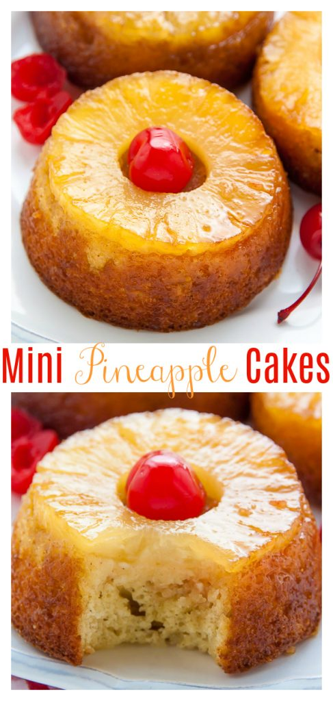 These Mini Pineapple Upside-Down Cakes are simple, sweet, and sure to put a smile on everyone's face! Just like the classic dessert, but in mini form! Perfect for parties and celebrations!