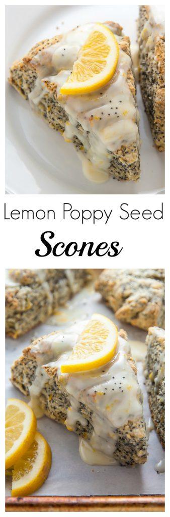 Classic and crumbly Meyer Lemon Poppy Seed Scones. The sunshine sweet lemon glaze makes them irresistible!