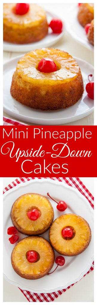 READY IN LESS THAN 30 MINUTES! These Mini Pineapple Upside-Down Cakes are simple, sweet, and sure to put a smile on everyone's face!