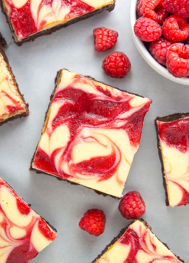 White Chocolate Raspberry Cheesecake Brownies - Baker by ...